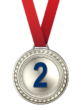 Silver Second Place Medal