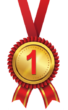 Golden First Place Medal