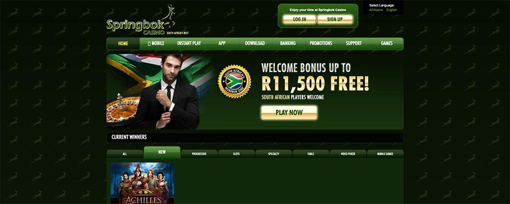 Springbok Casino R250 FREE No Deposit Coupon Code
